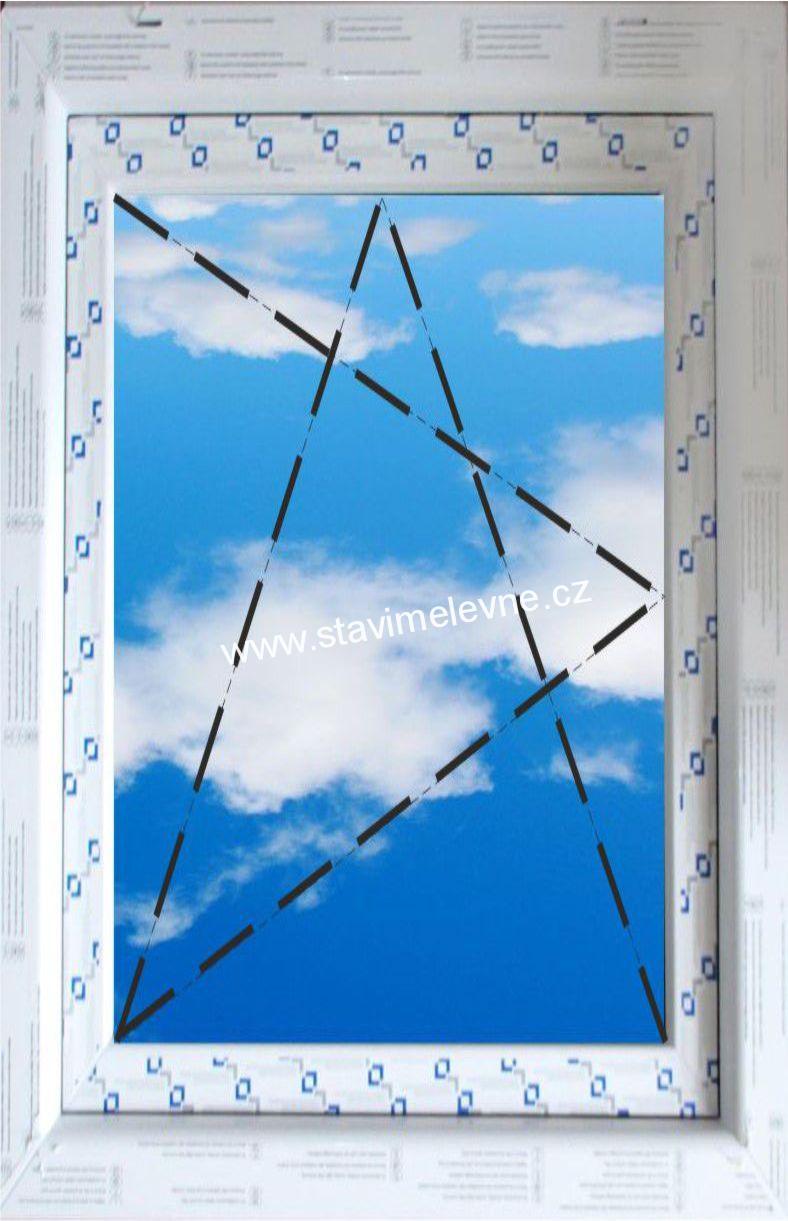 Ogromny plastové okno 60x120 QN49