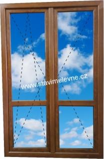 Balkonové dveře dvoukřídlé cena
